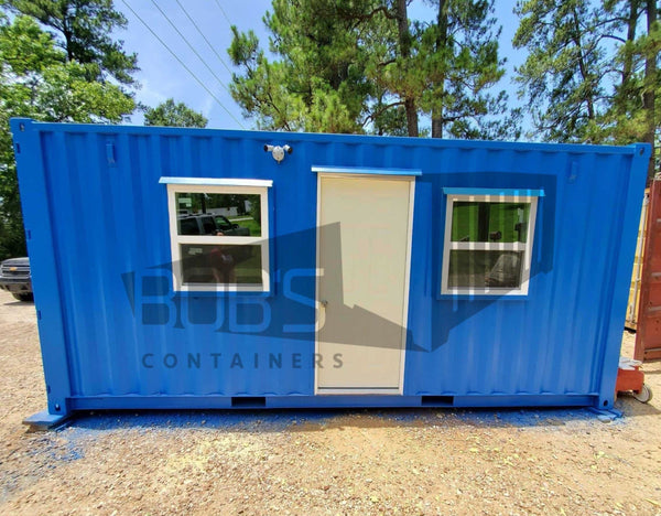 20 foot blue shipping container office