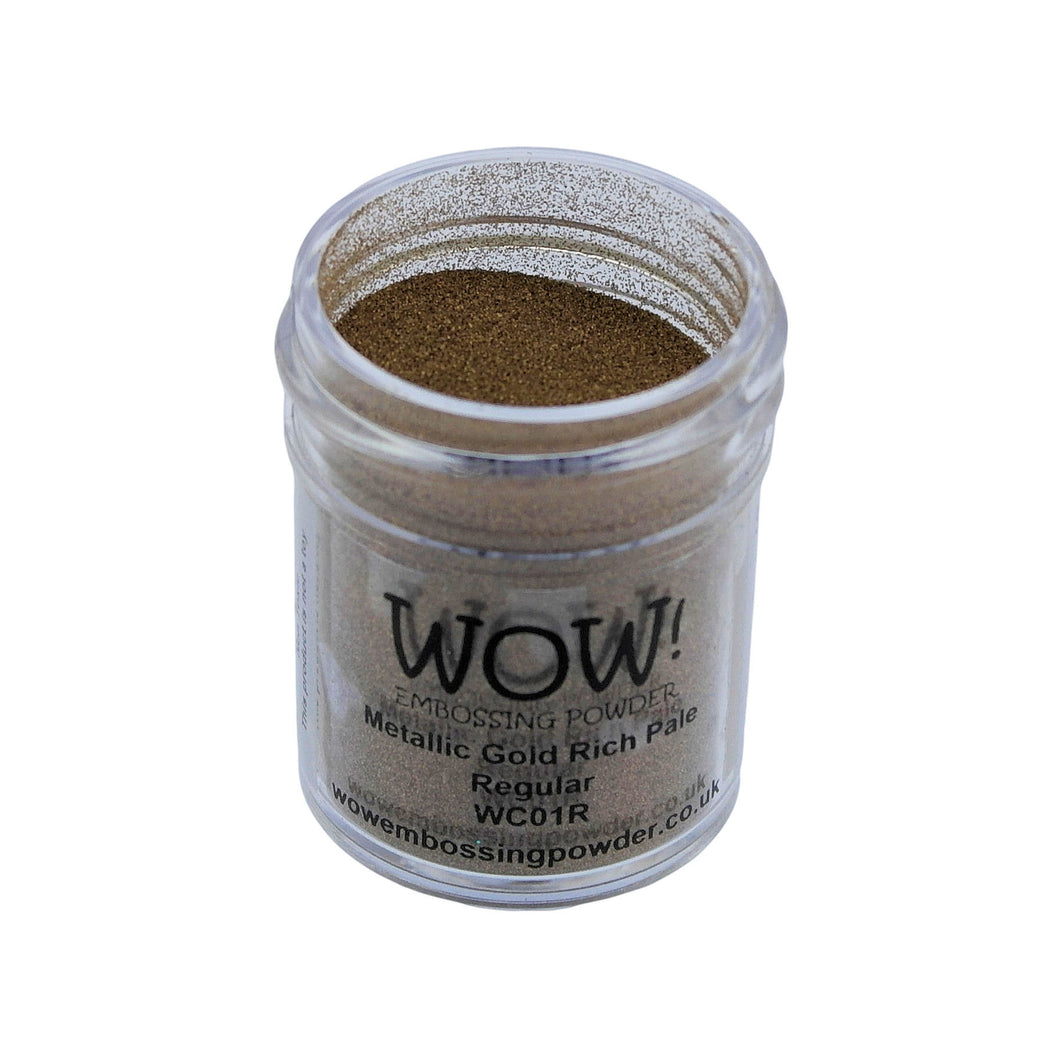 Wow! Metallic Embossing Powder 15ml - Regular Grade - Gold Rich Pale