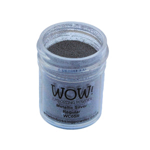 Wow! Metallic Embossing Powder 15ml - Regular Grade - Silver
