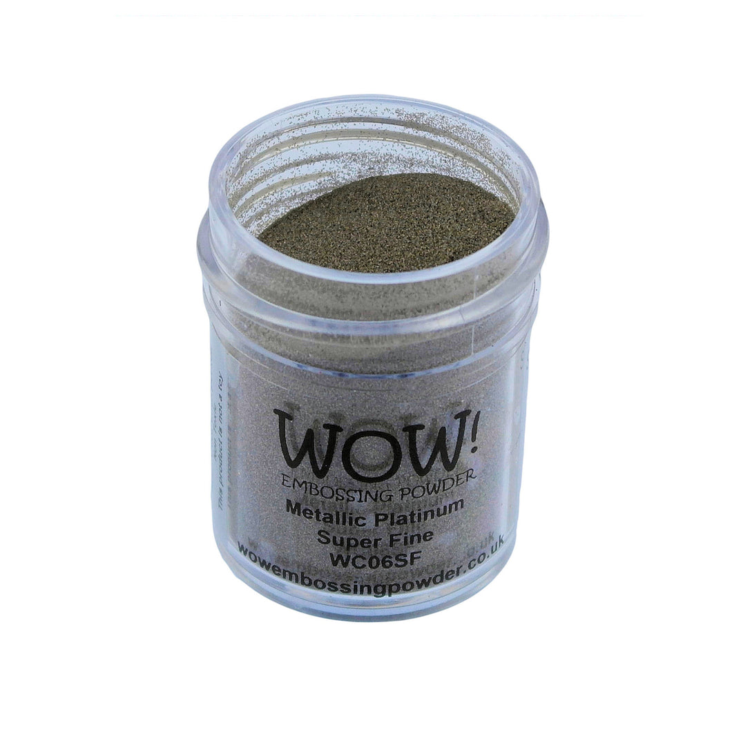 Wow! Metallic Embossing Powder 15ml - Super Fine Grade - Platinum