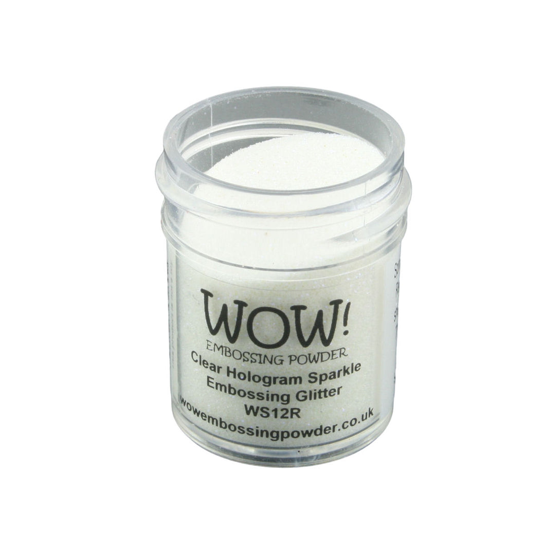 Wow! Glitter Embossing Powder 15ml - Clear Hologram Sparkle