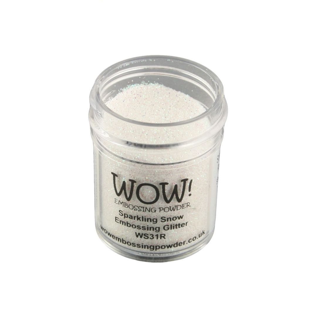 Wow! Glitter Embossing Powder 15ml - Sparkling Snow