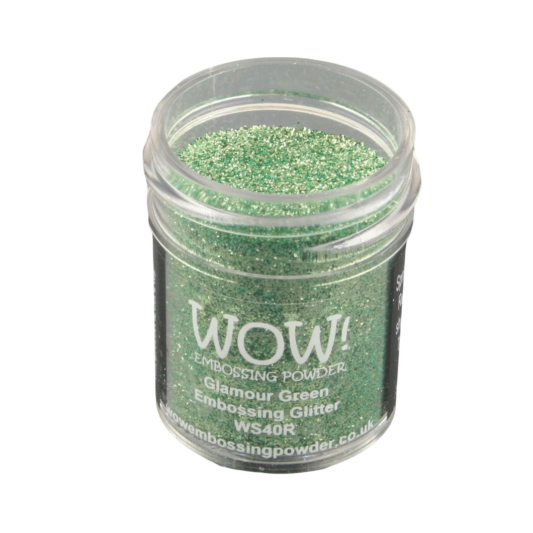 Wow! Glitter Embossing Powder 15ml - Glamour Green