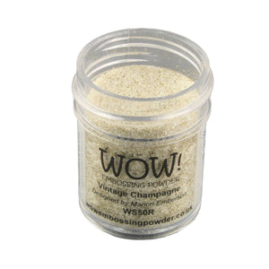 Wow! Glitter Embossing Powder 15ml - Vintage Champagne