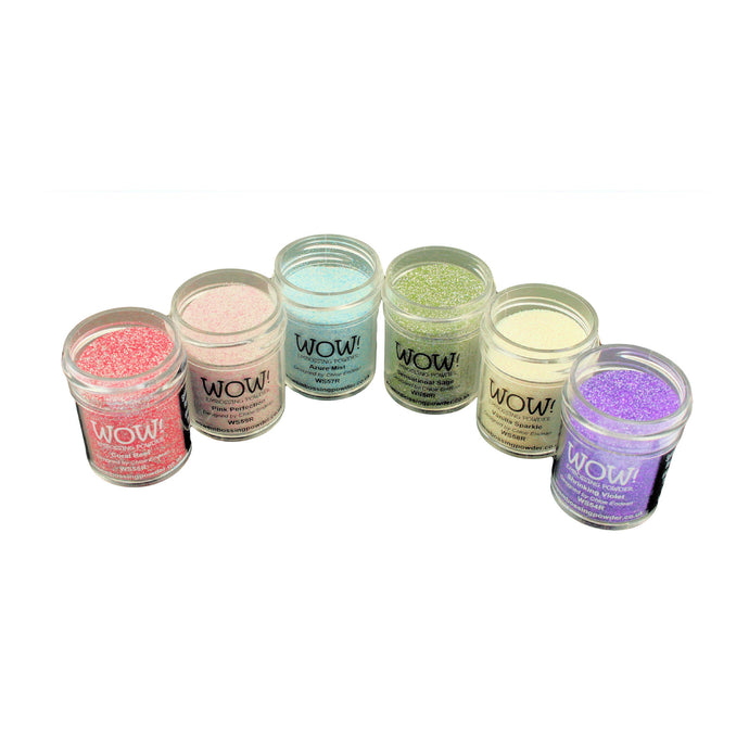 Wow! Glitter Embossing Powder 6 Piece Set - Designed by Chloe Endean