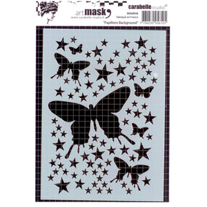 Carabelle MA60038 Mask Stencil A6 Papillons background (Butterflies)
