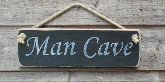 Shabby chic wooden sign - Man Cave