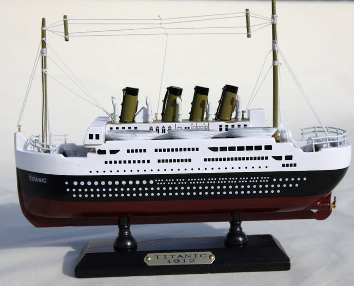 Large Detailed Wooden model of Titanic - 50cm x 20cm