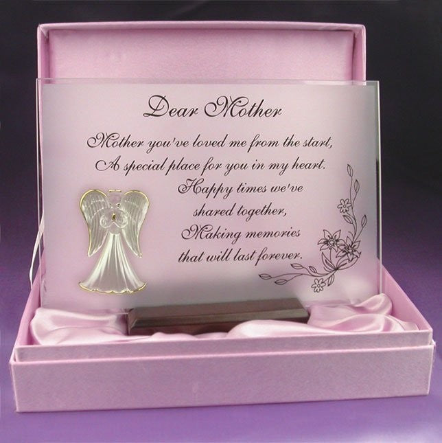 Dear Mother - Beautiful glass poem  and gift for your Mum