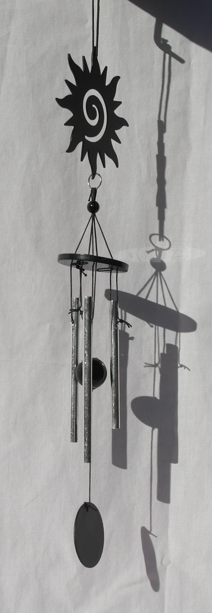 Sun and Moon Silhouette metal wind chime