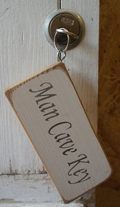 Shabby chic wooden keying Man Cave Key