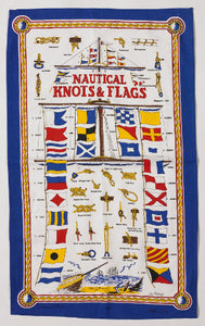 Nautical Knots and Flags Galley Cloth Tea Towel