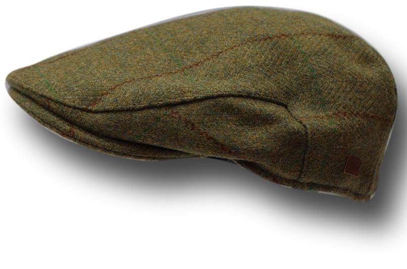 Small Green Patched Wool Farmers Flat Cap