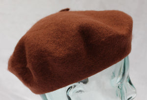 100% Pure Wool Brown Beret Unisex ideal for Men and Women