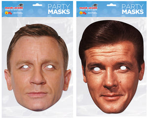 Daniel Craig and Roger Moore Official Celebrity Face Masks