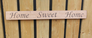 British handmade wooden sign Home sweet home