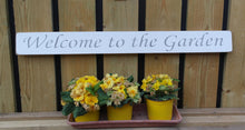 Load image into Gallery viewer, British handmade wooden sign Welcome to my Garden