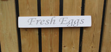 Load image into Gallery viewer, British handmade wooden sign Fresh Eggs