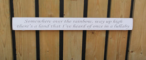 British Handmade wooden sign Somewhere over the rainbow?.