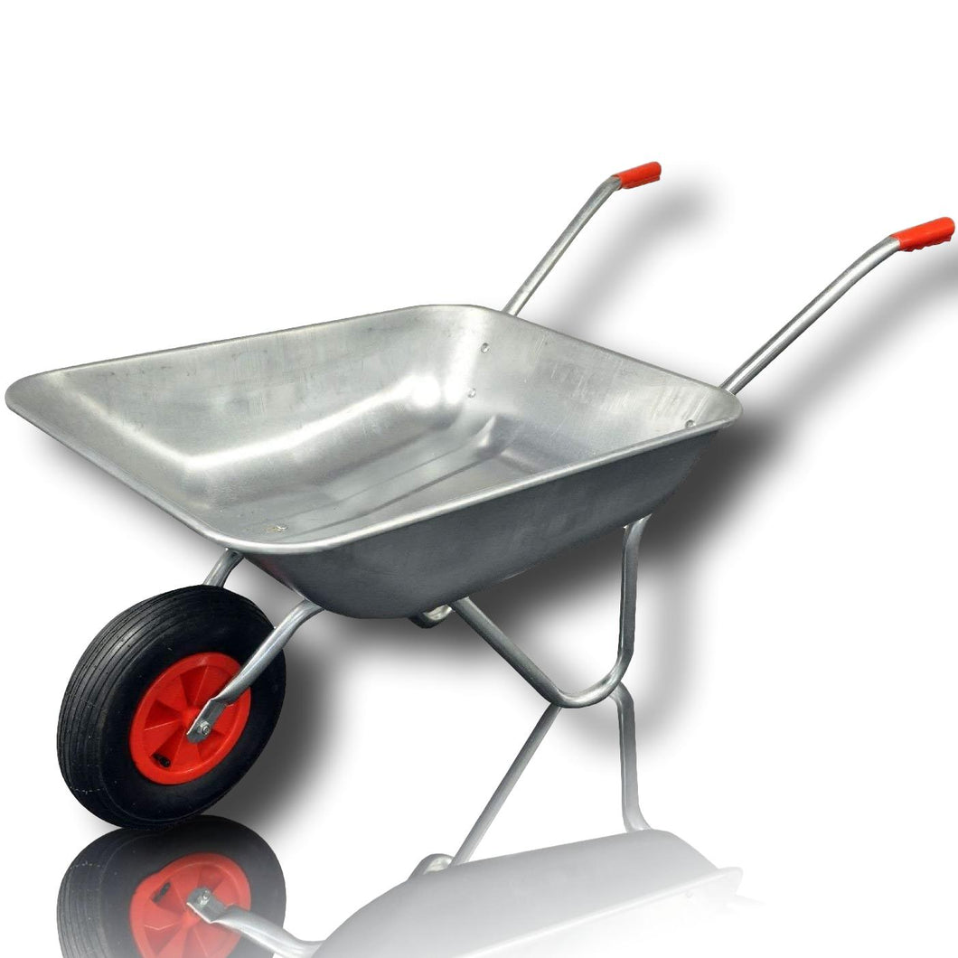 Large handy garden galvanised heavy duty professional 65 Litre Metal Wheelbarrow