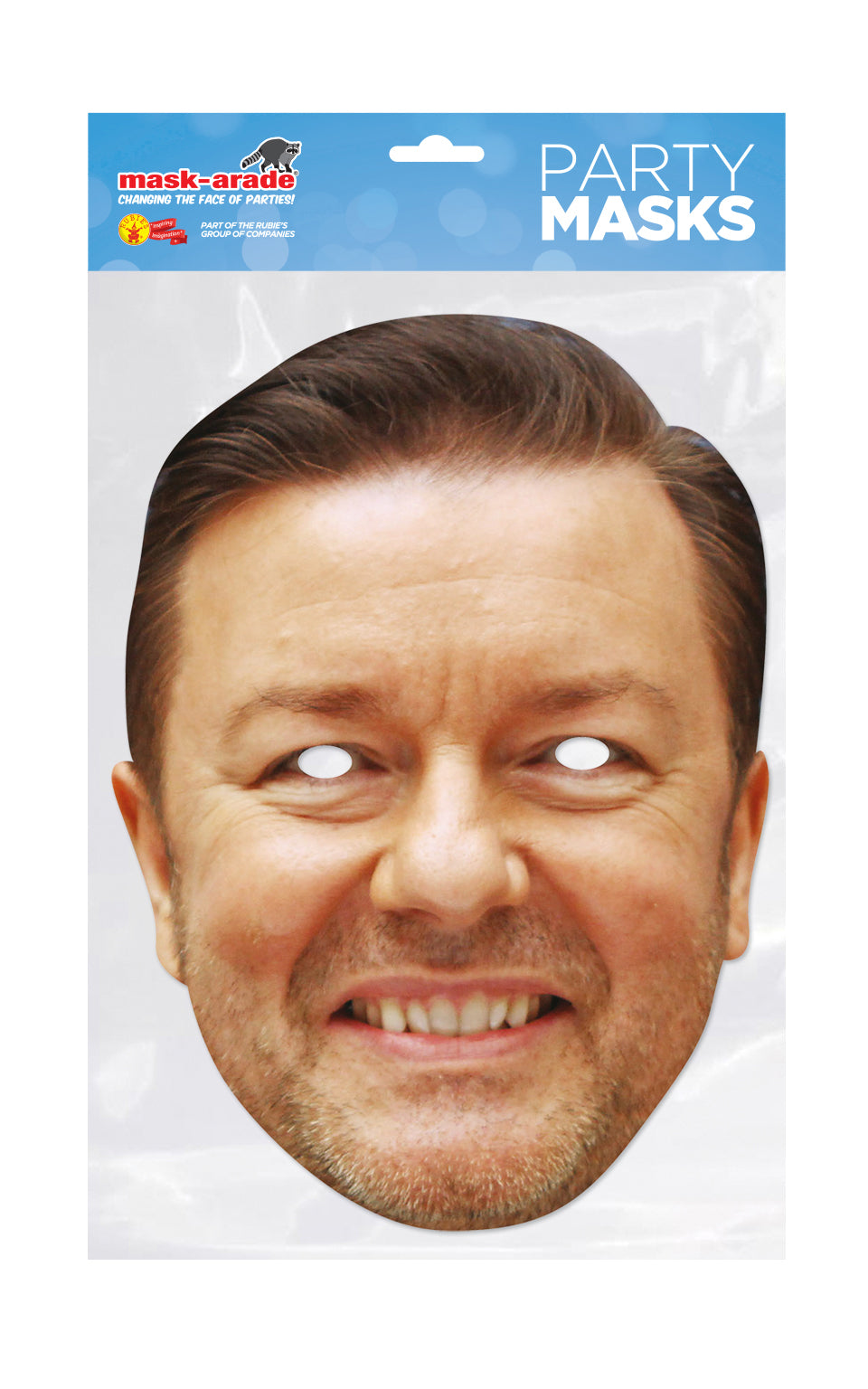 Ricky Gervais Official fancy dress Face Mask