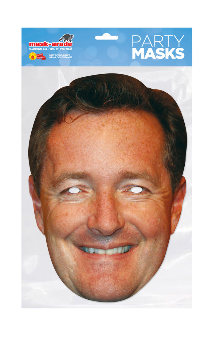Piers Morgan Celebrity Official Fancy Dress Face Mask