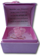 Load image into Gallery viewer, Gift for your Mother - Hand sculpted crystal rose pose with 22kt detailing