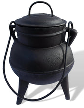 Load image into Gallery viewer, Large cast iron dutch oven, kettle, cauldron pot