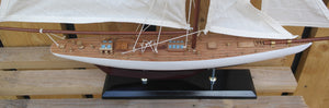 Authentic Americas Cup Columbia model yacht boat