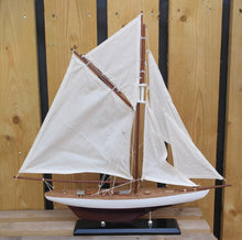 Load image into Gallery viewer, Authentic Americas Cup Columbia model yacht boat