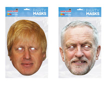 Load image into Gallery viewer, Boris Johnson and Jeremy Corbyn Politicians face masks