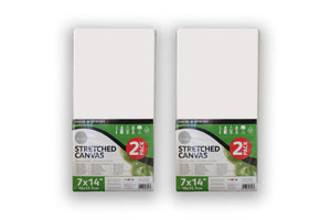 Pack of 2 Daler Rowney Stretched Canvases 18cm x 35.7cm