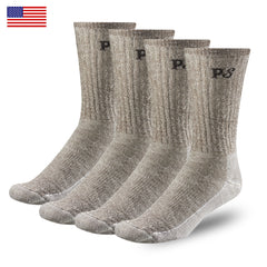 People socks Made in USA 4 pairs 71% merino wool crew socks for men and women hiking trekking and urban escapades