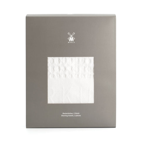 Pictured: The Waffle Pique Shaving Towels by MÜHLE