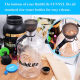BuildLife Protein Powder Container Whey Protein Storage Multifunction Box for Shaker Bottle BPA Free Milk Powder Storage Cheap