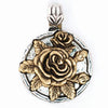 Beaucoup Designs Aimez Two Tone Rose June Charm 14 kt & Sterling Silver plated Made in USA