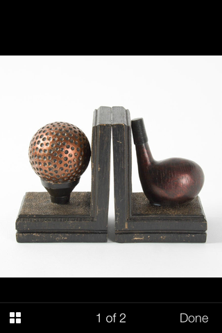 Golf Club And Ball Resin Bookends  8