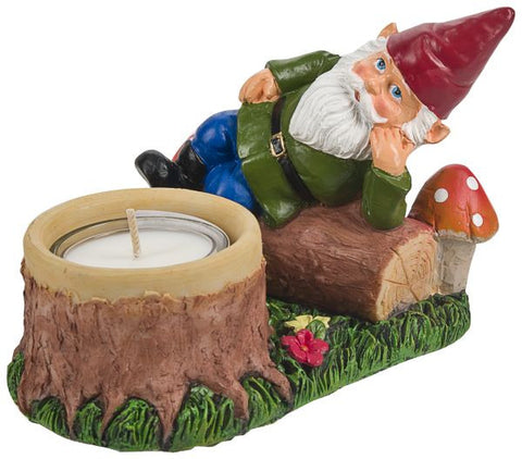 Adorable Gnome Tealight Holders for your Patio, Garden Decor