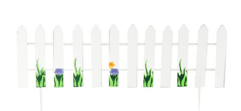 Ganz Miniature White Picket Fence Stake for Fairy Garden