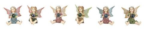 Miniature Fairies w/Gazing Ball Figures for Fairy Garden ~ 2 1/2
