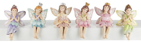 Miniature Fairy Sitting Princess Figures for Fairy Garden ~ 3 1/4