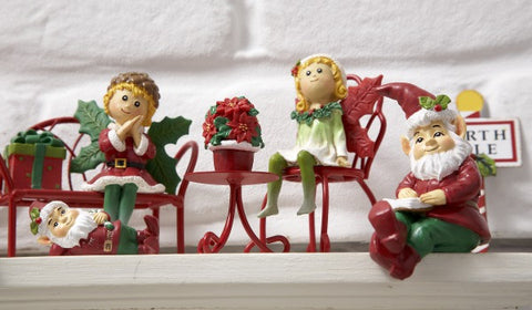 Ganz Red Mini Iron Bench Figure for Fairy Garden ~ matches chairs and tables