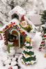 Christmas North Pole Cottage House for Fairy Garden ~ 2 styles, Gingerbread Brown or Red