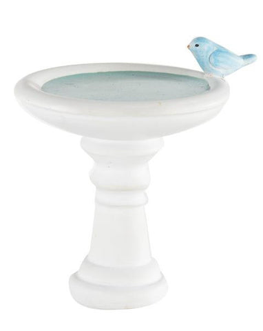Ganz Mini Bird Bath Figure for Fairy Garden or Doll House  ~ Polystone