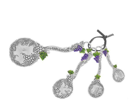 Ganz Grapes Measuring Spoons with Enameled Grapes Gift for MOM Er32901