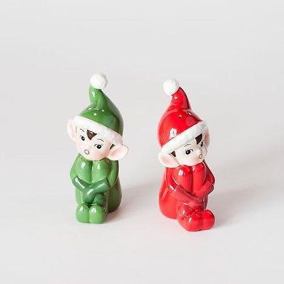 Vintage Style Elf Salt and Pepper shakers ~ Napco-like, Repro Christmas NEW