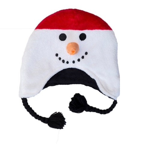 Snowman/Penguin Reversible Child's Fleece Hat  Age 3 - 8  Flapjack Kids