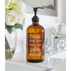 Wash Your Hands You Filthy Animal Amber Glass Soap Dispenser Bottle