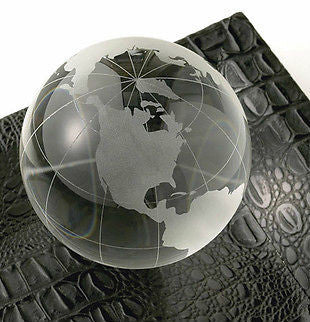 Crystal Globe Paperweight ~ New by Two's Company ~ Teacher or Office Gift