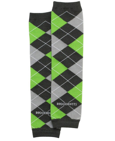 Baby  Boy Awesome Argyle Green/Brown Rugged Butt Leg Warmers